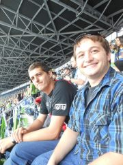 Last year, Agnaldo (NWCCI Alumni) and I at a Sounders game!
