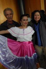 Laura with her friendship family at Whatcom's International Night