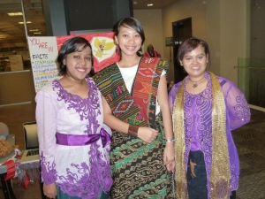 NWCCI students at Pierce College show off traditional clothing during International Education Week 2011