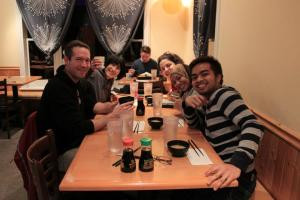 Dinner with host family in Portland