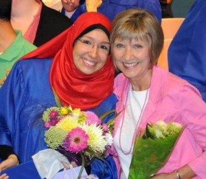 Iman and Linda at Graduation