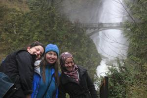 Visiting Oregon Waterfall with host family