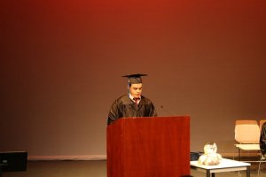 Mohamed Speaking at ESL Grad