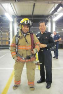 Earl in Fireman Gear